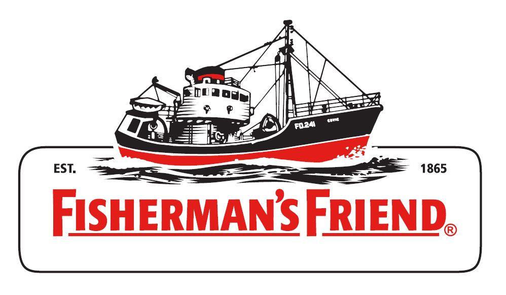"""Logo for Festival Sponsor """"Fisherman's Friend"""" at a First Mate level for 2019"""